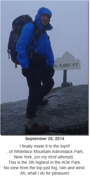Sept 26 - Charles reaches the top of Whiteface Mountain